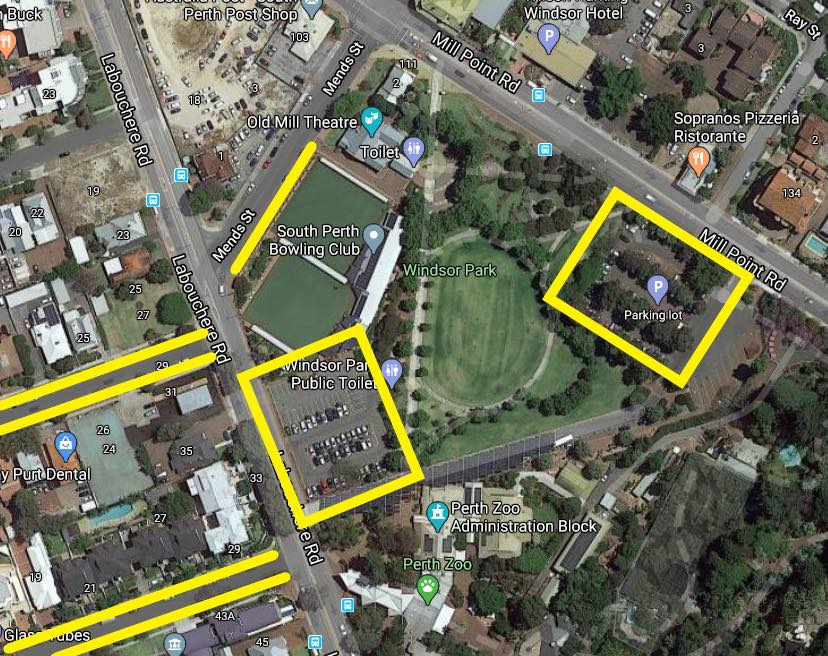 South Perth Parking options